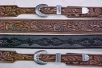 carved leather belts - custom leather belts