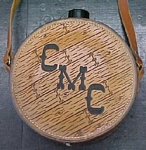 carved leather canteen - CMC- custom leather