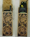 carved leather cell phone case - wc