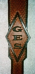 custom leather guitar strap GES