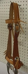 custom leather stamped headstall