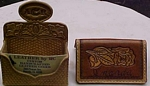 custom leather business card set