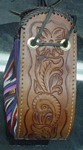carved leather purse for christen
