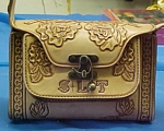 leather carved purse with roses for sandi